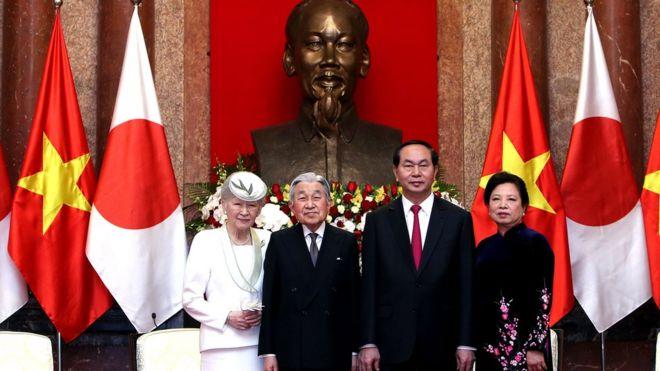 Chủ tịch nước Trần Đại Quang hội kiến Nhà Vua Nhật Bản Akihito ở Hà Nội