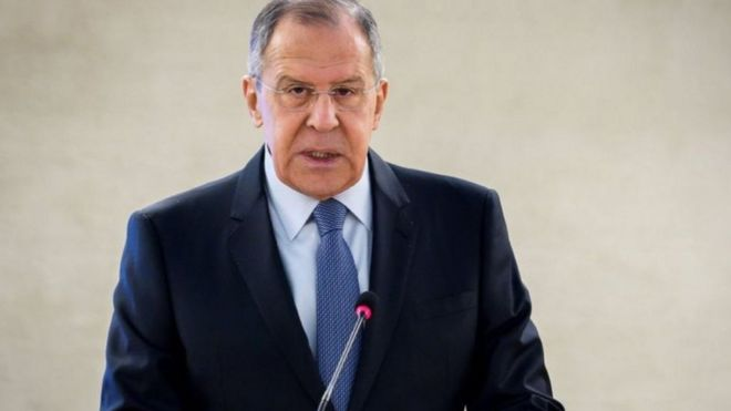 سيرغي لافروف وزير الخارجية الروسية