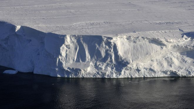 Acantilados de hielo.