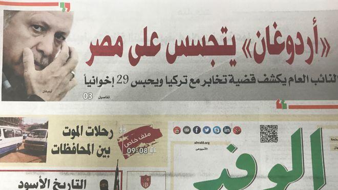 Mısır basınından Arapça başlıklar