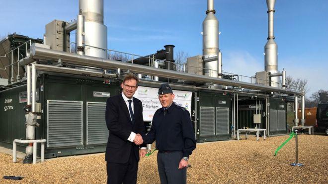RAF Marham set to be powered by biogas - BBC News