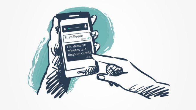 Ilustração de um celular