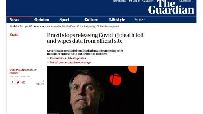 Reportagem do Guardian sobre Brasil