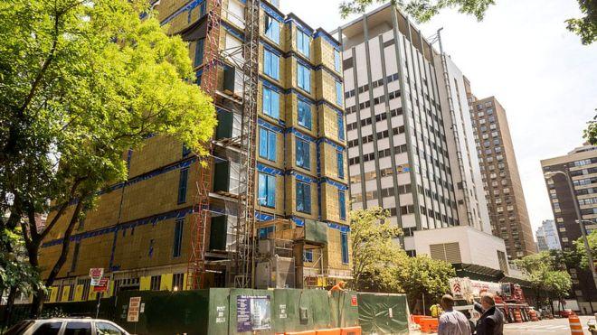 В Нью-Йорке тоже в моде крошечные квартирки - в этом здании площадь каждой начинается с 23 кв.м