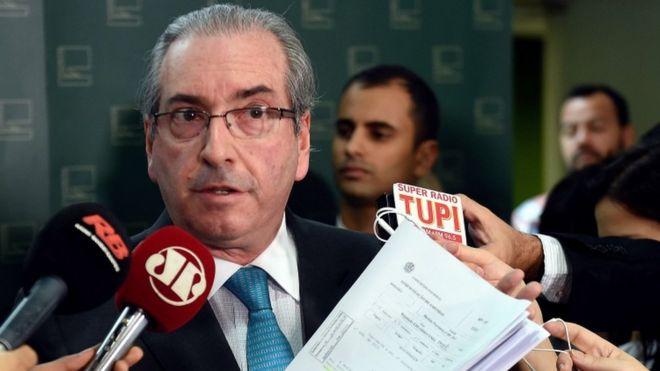 Эдуардо Кунья, спикер Палаты депутатов, 30 ноября 2015 года