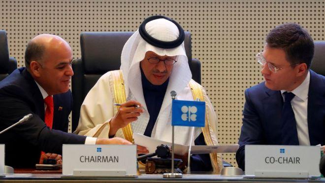 وزراء الطاقة في السعودية وفنزويلا وروسيا