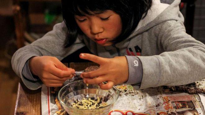 Население Кусихары сокращается, становится старше. Все меньше молодежи учится искусству охоты на ос