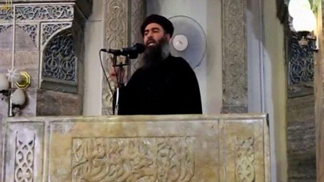 Bağdadi Temmuz 2014'te IŞİD tarafından ele geçirilen Musul'da