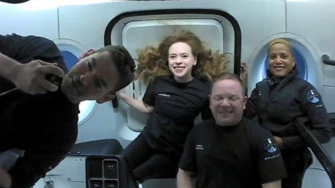 El grupo de civiles estuvo tres días en órbita