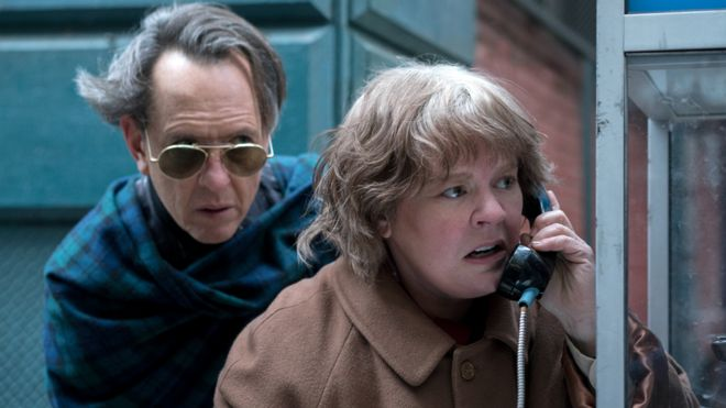 Richard E Grant and Melissa McCarthy