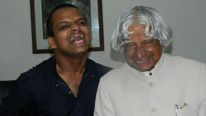 A man with cerebral palsy tells the story of meeting APJ Abdul Kalam