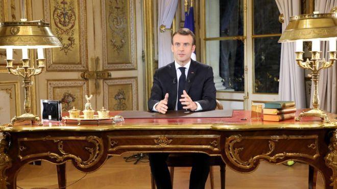 Sarı Yelekliler protestoları: Macron, 'Zenginlerin cumhurbaşkanı değilim' konuşmasını