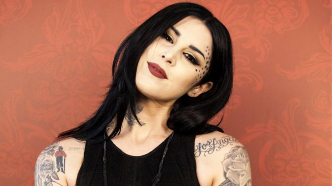 b44c7785a Kat Von D: The make-up mogul who has reignited 'anti-vax' row - BBC News