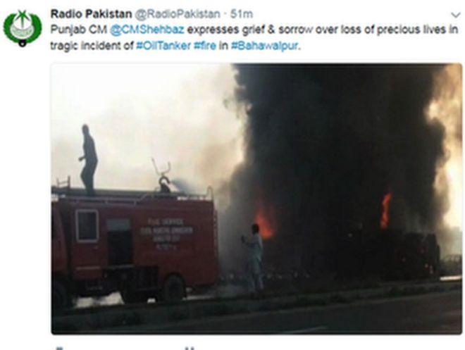 Radio Pakistan tweet