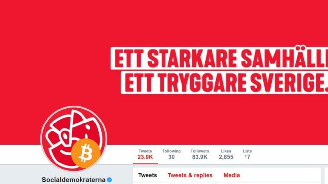 Swedish Social Democrats' Twitter account hacked - BBC News