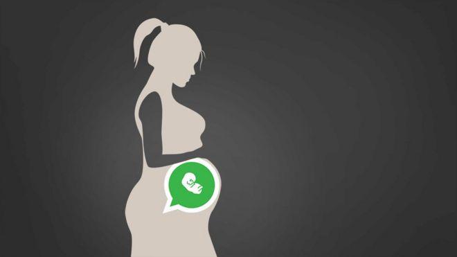 Ilustração mulher grávida