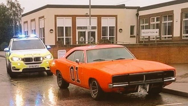 Police Come To Aid Of Pesky Duke Boys In Classic Car Bbc News