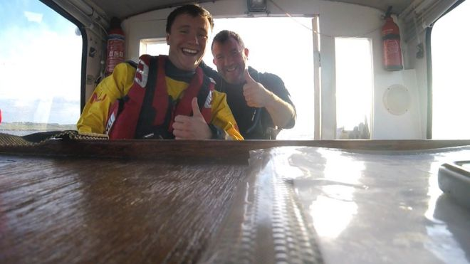 Lifeboat Volunteer Rescues Father Off Coast Of Fife Bbc News
