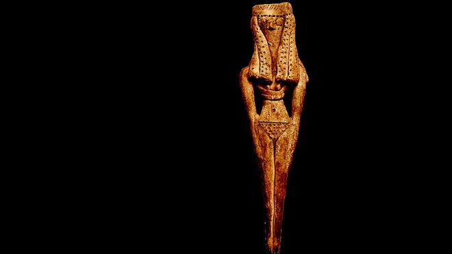 A figura da fertilidade feminina com caráter erótico. Antigo Egito. Reino médio.