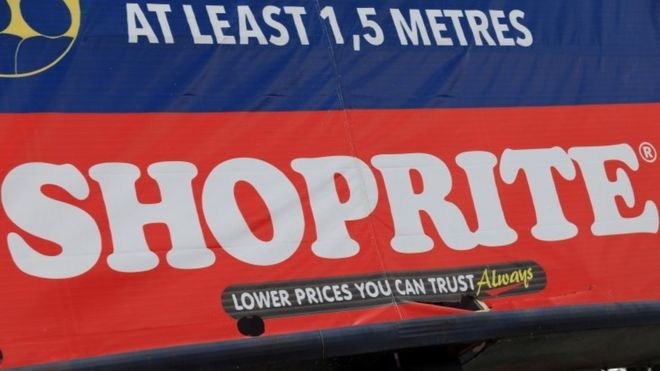 A Shoprite sign is displayed on a billboard in Abuja, Nigeria August 3, 2020