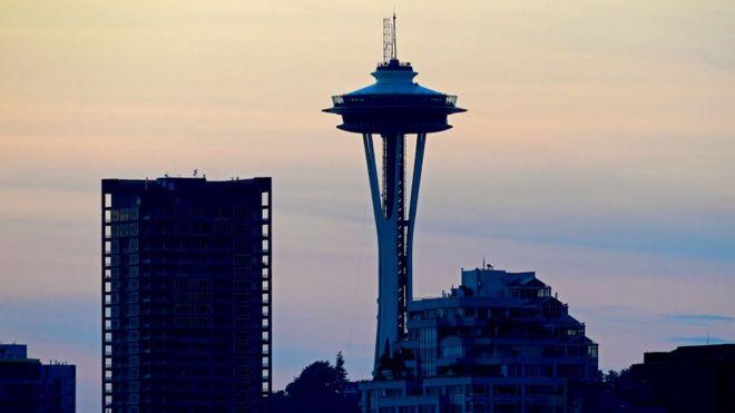 La emblemática Aguja de Seattle, Washington