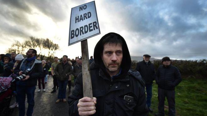 Anti-Brexit protest in Ireland