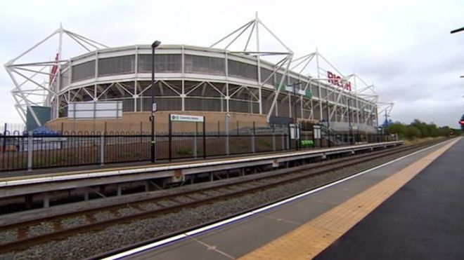 Ricoh railway station being built