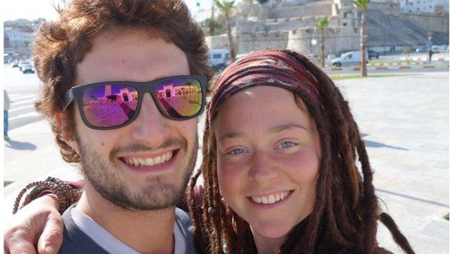 A recent photo of Luca Tacchetto (left) and Edith Blais