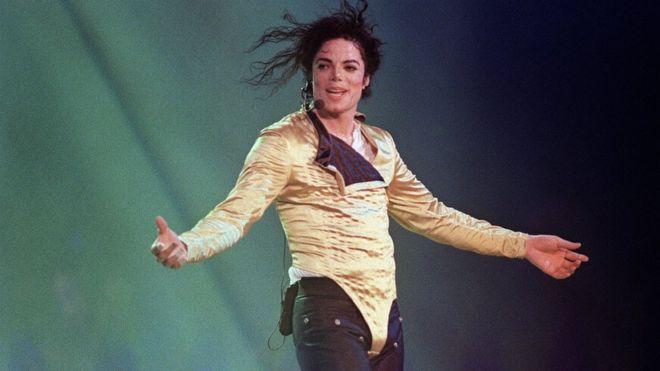 Майкл Джексон на выступлении в июле 1996 года.