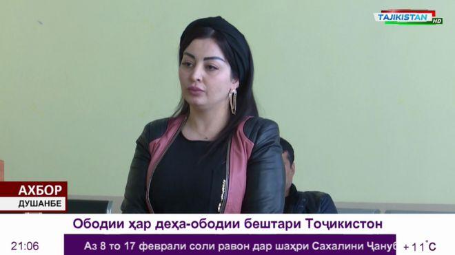 Tajik Firusa Khafizova (TV CHANNEL TOJIKISTON)