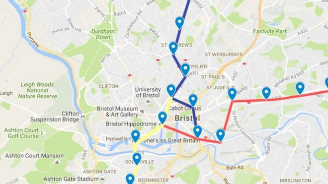 Map Of Bristol Uk.Bristol Underground Rail Could Take 20 Years To Deliver Bbc News