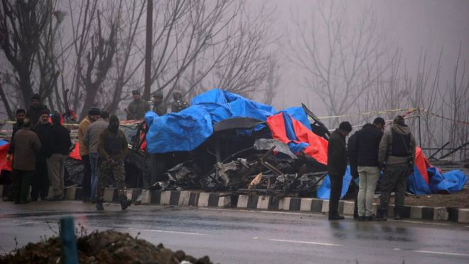 Pulwama attack aftermath February 2019