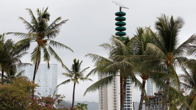 Image result for 夏威夷冷战后 首次拉响防核警报
