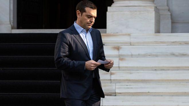 Премьер-министр Греции Алексис Ципрас в Афинах, 13 января
