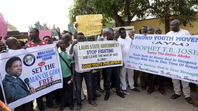Nigeria collapse: TB Joshua church fights prosecution call - BBC News