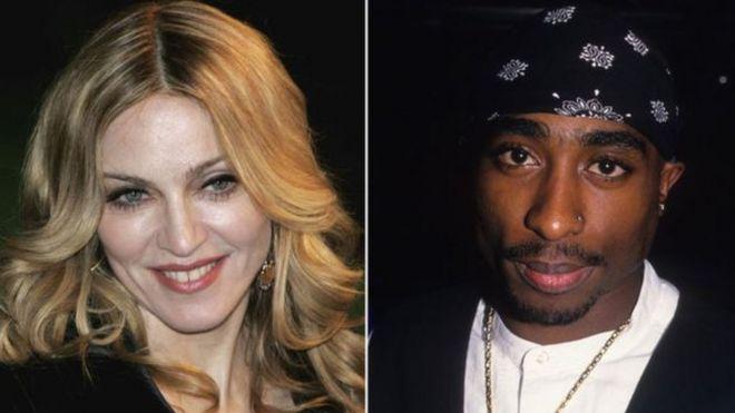 Madonna na Tupac Shakur kulia
