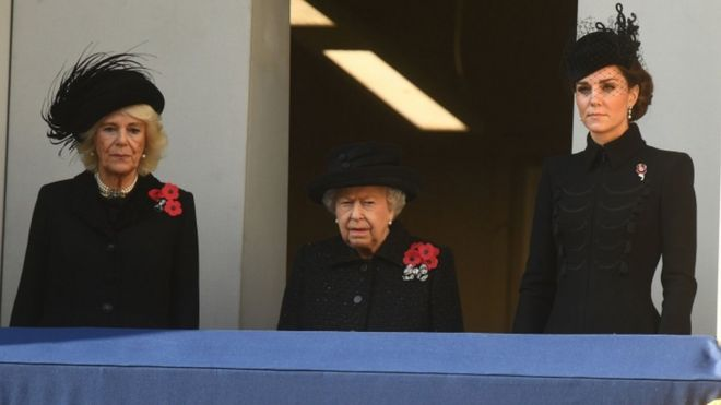 The Duchess of Cornwall, Queen Elizabeth and the Duchess of Cambridge