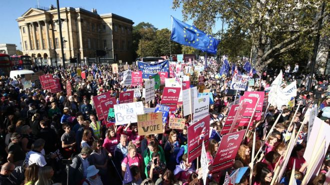 People's Vote protest and other mass marches - from Iraq to