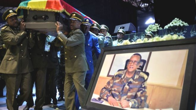 Gen Seare Mekonnen's funeral in June 2019