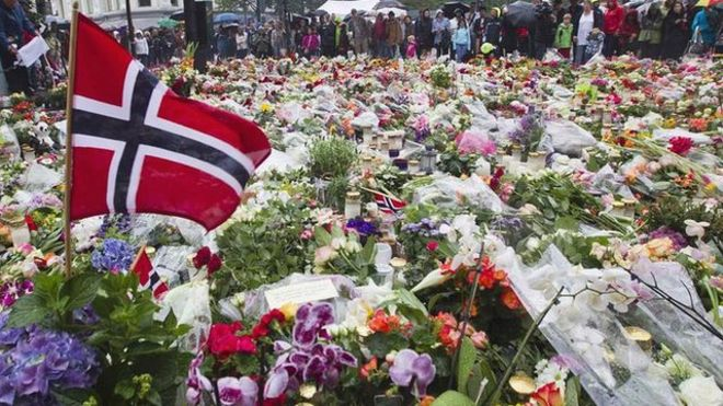 Memorials to victims of terror attack