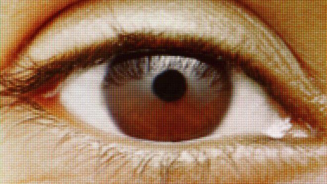 ojo en una pantalla