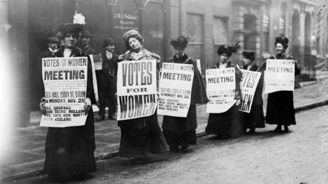 Suffragettes pictured in London