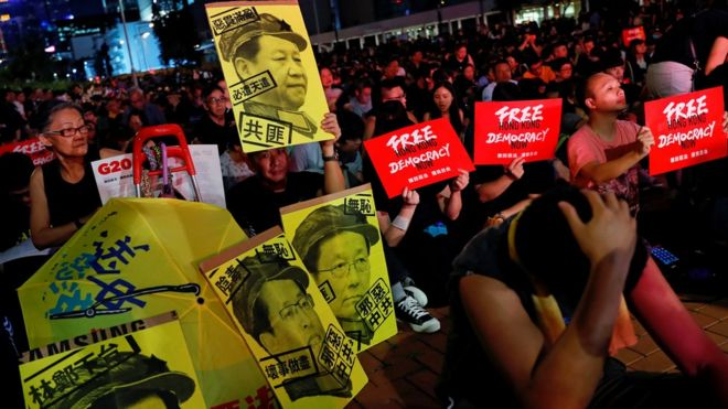 逃犯条例:香港万人集会促请G20国家向习近平施压