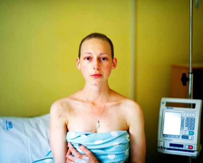 Carly Clarke's photograph Last Day of Chemotherapy, which was shortlisted in the Portrait of Britain Awards 2018