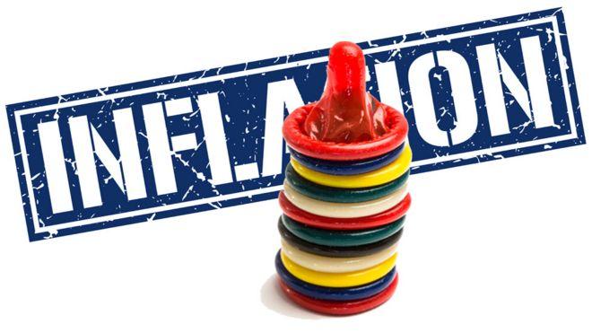 Inflación con condones adelante