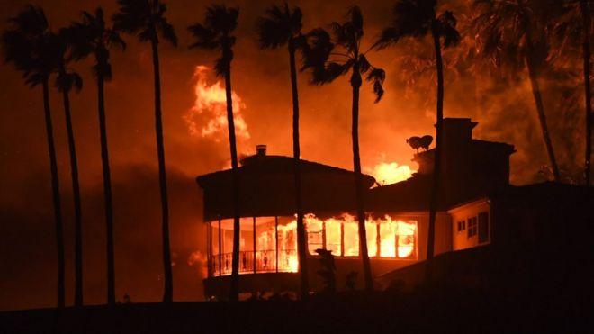 Пожежа перекинулася на узбережжя Малібу