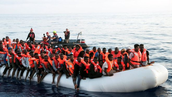 Image result for migrants italy