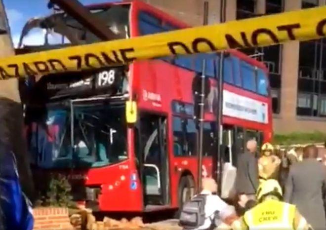 West Croydon bus station crash leaves 20 injured - BBC News