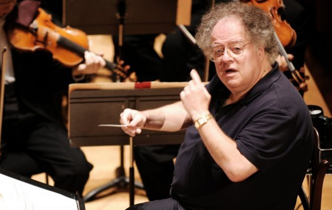 Us Conductor James Levine Pictured In
