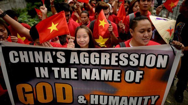 South China Sea, Vietnam, protests